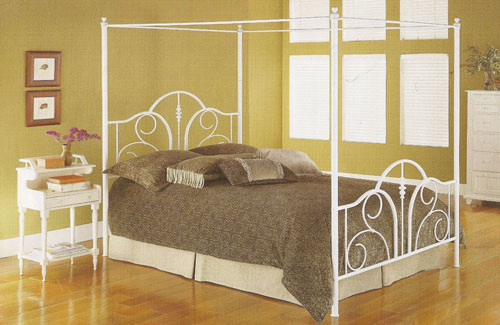Contour Canopy Bed White