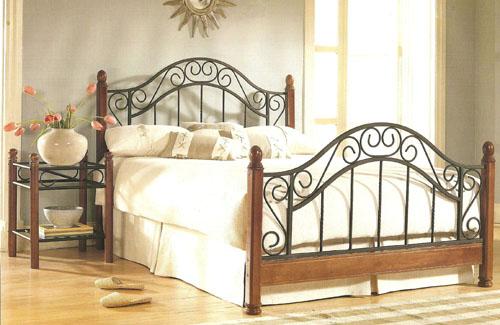 Wood & Metal Bed