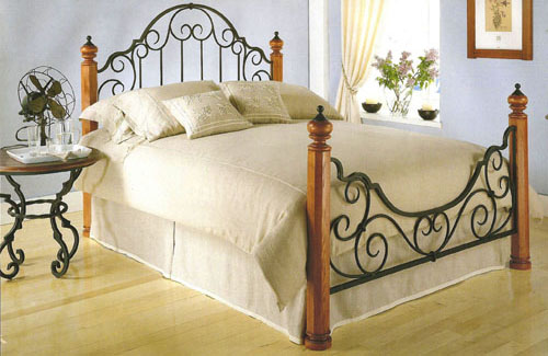 Wood & Metal Bed